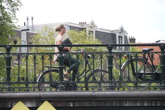Amsterdam biker Stock Photography
