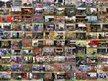 Amsterdam Bikes. Set of colorful, Amsterdam bikes. One hundred photographs Royalty Free Stock Photo