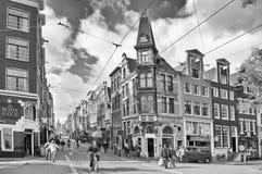 Amsterdam.Black & fotographia bianca Fotografia Stock Libera da Diritti