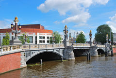 Amsterdam. Blue Bridge Stock Images