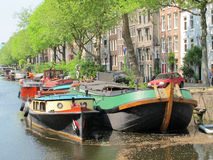Amsterdam boat Stock Photography