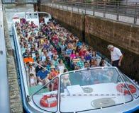 Amsterdam Boat tour Stock Photos