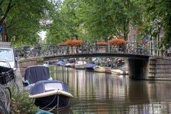 Amsterdam-Brücke Stockfotos