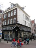 Amsterdam brick houses and bycicles 0999 Stock Photos