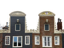 Amsterdam brick houses 0996 Stock Photography