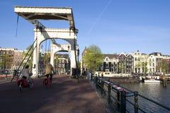 Amsterdam bridge. A large bridge in amsterdam stock photos