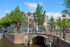 Amsterdam. Bridge across the canals Royalty Free Stock Photos