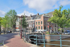 Amsterdam. Bridge across the canals Royalty Free Stock Photography