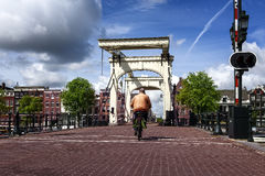 Amsterdam bridge Royalty Free Stock Photos