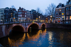 Amsterdam bridge Royalty Free Stock Image