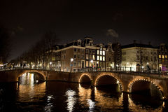 Amsterdam bridge Royalty Free Stock Images