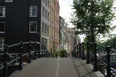 Amsterdam. Bridge and street of Amsterdam stock image