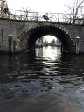 Amsterdam canals in winter stock photos