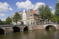 Amsterdam broar Arkivfoton