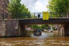 Amsterdam broar på kanaler Royaltyfria Bilder