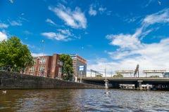 Amsterdam broar på kanaler Royaltyfria Foton
