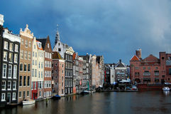 Amsterdam budynki Zdjęcie Royalty Free