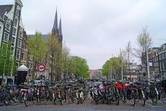 Amsterdam budynki i kanały Fotografia Stock