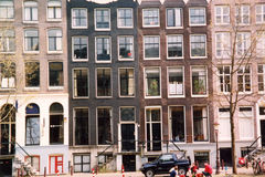 Amsterdam Buildings 3. Amsterdam apartment buildings Royalty Free Stock Photo