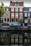 Amsterdam Buldings Reflect in Canal Royalty Free Stock Photos