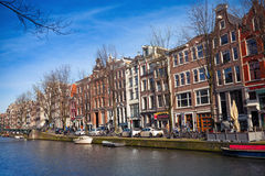Amsterdam, bunte Hausfassaden Stockfoto