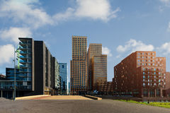 Amsterdam business district with office buildings at Amsterdam Royalty Free Stock Image