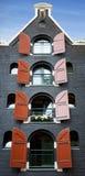 Amsterdam byggnad Royaltyfri Foto
