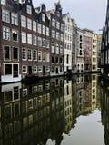 Amsterdam byggnad, härliga Amsterdam arkivbilder