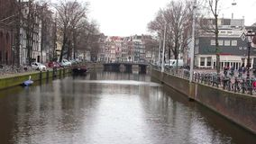 Amsterdam cana stock video footage