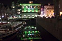 Amsterdam cana holland Royaltyfri Fotografi