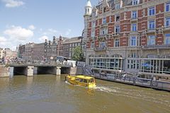 Amsterdam Canal. Amsterdam, Holland is a city of canals and decorative buildings and destination  of mant tourist Royalty Free Stock Photography