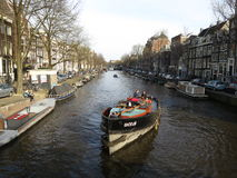 Amsterdam Canal. View on a Canal in Amsterdam Royalty Free Stock Photo