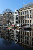 Amsterdam Canal. Amsterdam, the capital of the Netherlands, has been called The Venice of the North because of the more than 100 km of canals that form Royalty Free Stock Images
