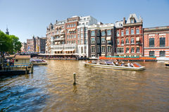 Amsterdam, Canal and bike. Royalty Free Stock Photos