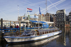 Amsterdam Canal Boat Royalty Free Stock Photography