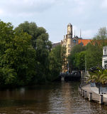 Amsterdam Canal and Building Royalty Free Stock Images