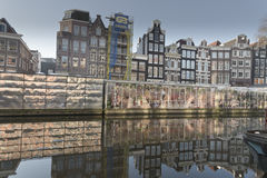 Amsterdam canal and buildings Royalty Free Stock Photos