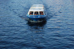 Amsterdam canal cruiser for sightseeing  Royalty Free Stock Image