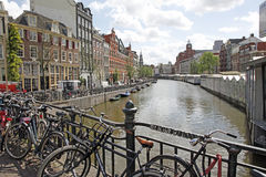 Amsterdam Canal , Holland Royalty Free Stock Images