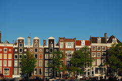 Amsterdam canal houses. The famous Amsterdam canal houses Stock Image