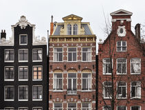 Amsterdam canal houses. Typichal Dutch houses in Amsterdam, the Netherlands Stock Photography