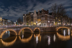 Amsterdam canal houses Royalty Free Stock Photography