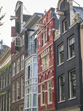 Amsterdam canal houses in different styles Royalty Free Stock Photo