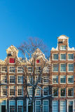 Amsterdam canal houses in winter Stock Photography