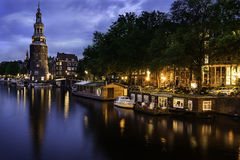 Amsterdam Canal and Light Stock Photos