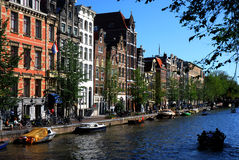 Amsterdam. A canal of the many in Amsterdam Royalty Free Stock Images