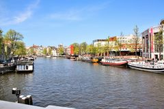 Amsterdam canal, Netherlands Royalty Free Stock Image