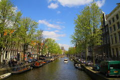 Amsterdam Canal - Netherlands. Photo showing a canal in Amsterdam - Ntherlands Stock Photography