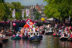 Amsterdam Canal Parade 2012 Royalty Free Stock Photo