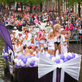 Amsterdam Canal Parade 2012 Royalty Free Stock Photography